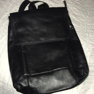 Latico leather black backpack